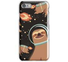 Happy sloth spaceman rocket jet pack iPhone Case/Skin