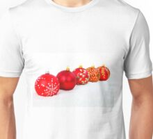 5 Red Christmas Decoration Balls Unisex T-Shirt