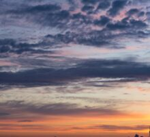 One Fine View - Rainbow Colored Skies Over Toronto at Dawn Sticker