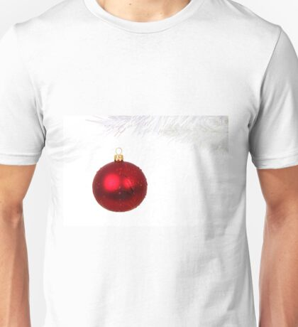 Red Christmas Decoration Ball Unisex T-Shirt