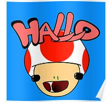 HALLO! - Toad Poster