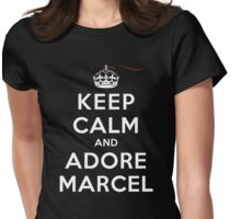 Keep Calm and Adore Marcel (DS) Womens Fitted T-Shirt