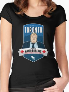 Mayor Rob Ford - Please Come Back, We Have Crack. Women's Fitted Scoop T-Shirt