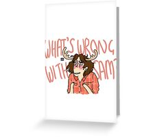 Supernatural Tropes- What's wrong with Sam? Greeting Card