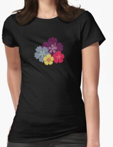 Colourful hibiskus flowers Womens Fitted T-Shirt