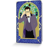 The Eleventh Doctor a la Alphonse Mucha Greeting Card