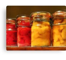 Canned Tomatoes and Peaches Canvas Print