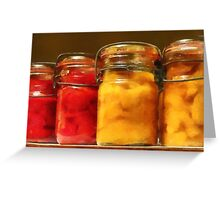 Canned Tomatoes and Peaches Greeting Card