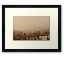 Countryside in the mist Framed Print