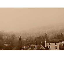 Countryside in the mist Photographic Print