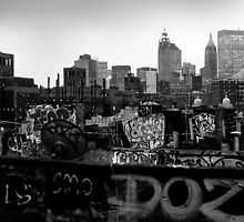 NEW YORK GRAFFITI CITY SCAPE by Paul Tanner