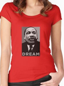 MLK: DREAM Women's Fitted Scoop T-Shirt
