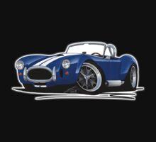 AC / Shelby Cobra Blue (White Stripes) One Piece - Short Sleeve
