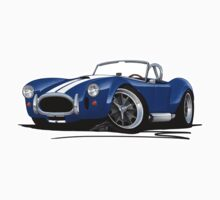 AC / Shelby Cobra Blue (White Stripes) Kids Tee