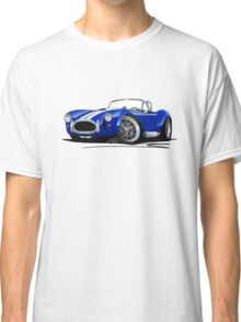 AC / Shelby Cobra Blue (White Stripes) Classic T-Shirt