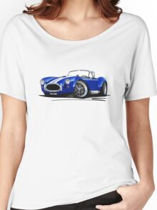 AC / Shelby Cobra Blue (White Stripes) Women's Relaxed Fit T-Shirt