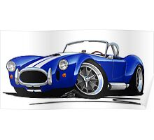 AC / Shelby Cobra Blue (White Stripes) Poster