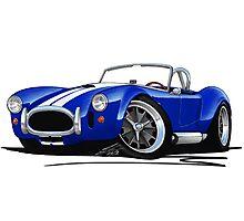 AC / Shelby Cobra Blue (White Stripes) Photographic Print