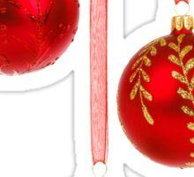 3 Red Christmas Decoration Balls Sticker