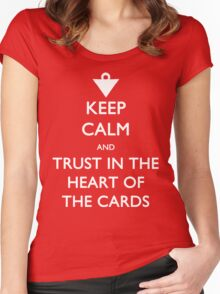 Trust in the Heart of the Cards Women's Fitted Scoop T-Shirt