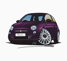 Fiat 500 Purple by Richard Yeomans