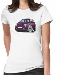 Fiat 500 Purple Womens Fitted T-Shirt