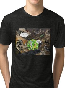 Rick and Morty in the Clone Wars Tri-blend T-Shirt