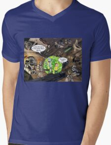 Rick and Morty in the Clone Wars Mens V-Neck T-Shirt
