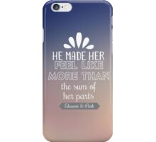 Eleanor and Park quote iPhone Case/Skin