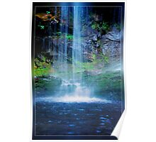 Blue Waterfall Poster