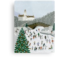 Ice skating pond Metal Print