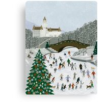 Ice skating pond Canvas Print