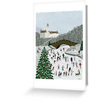 Ice skating pond Greeting Card