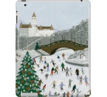Ice skating pond iPad Case/Skin