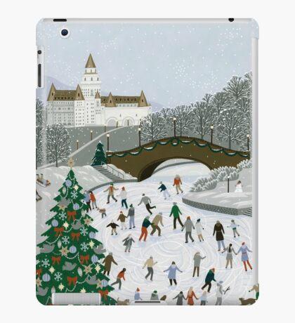 Ice skating pond iPad Case/Skin
