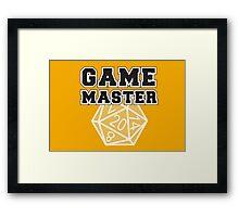 Game Master t-shirt Framed Print
