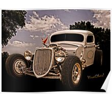 36 Ford Rat Rod Pickup Is It Art Or Is It Only Mechanical Contrivance Poster
