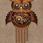 Steampunk Owl Vintage Style by BluedarkArt