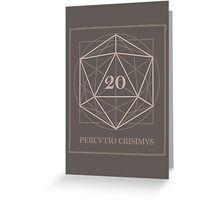 The perfect D20 Greeting Card