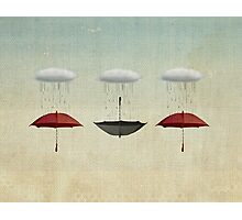 the black umbrella Photographic Print