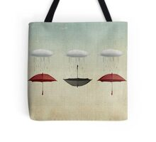 the black umbrella Tote Bag