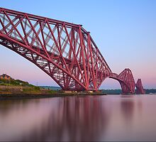 Forth Bridge at dusk by Stuart Pardue