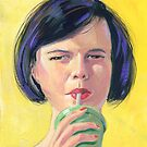 """Sippy"" Woman sipping a soda by COusley622"
