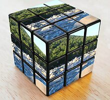 Kancamagus River Rubik's Cube by CapeCodGiftShop