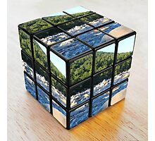 Kancamagus River Rubik's Cube Photographic Print