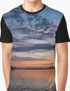 One Fine View - Rainbow Colored Skies Over Toronto at Dawn Graphic T-Shirt