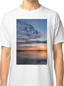 One Fine View - Rainbow Colored Skies Over Toronto at Dawn Classic T-Shirt