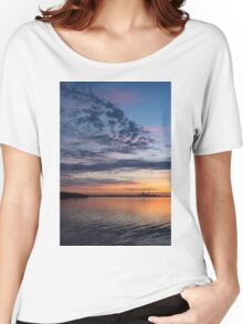 One Fine View - Rainbow Colored Skies Over Toronto at Dawn Women's Relaxed Fit T-Shirt