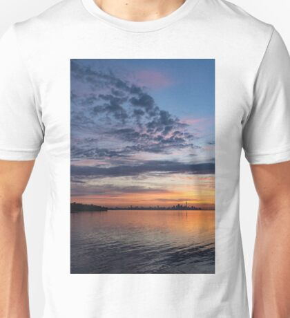 One Fine View - Rainbow Colored Skies Over Toronto at Dawn Unisex T-Shirt