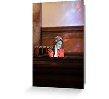 Church Scene Greeting Card